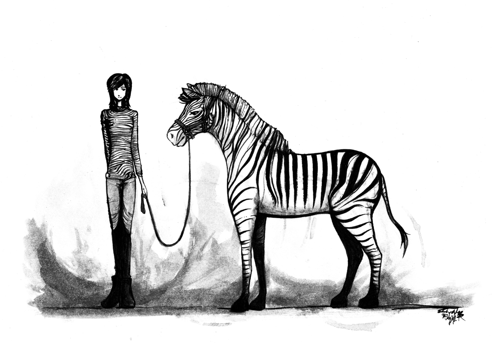 Jo & her zebra